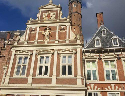 Stadhuis Haarlem schoorsteen vegen