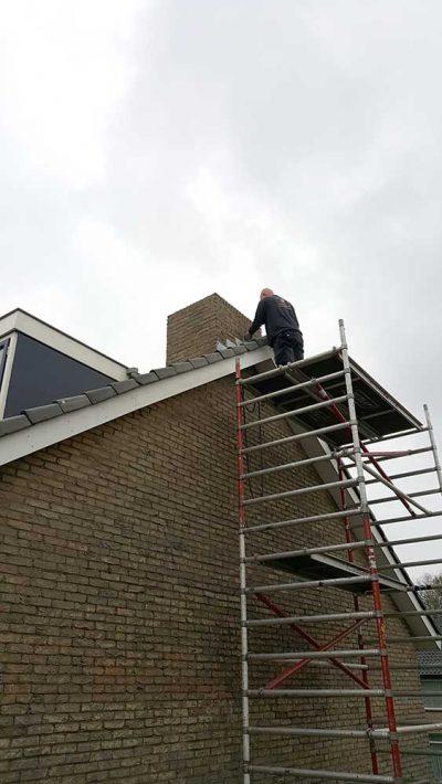 renovatie schoorsteen op dak